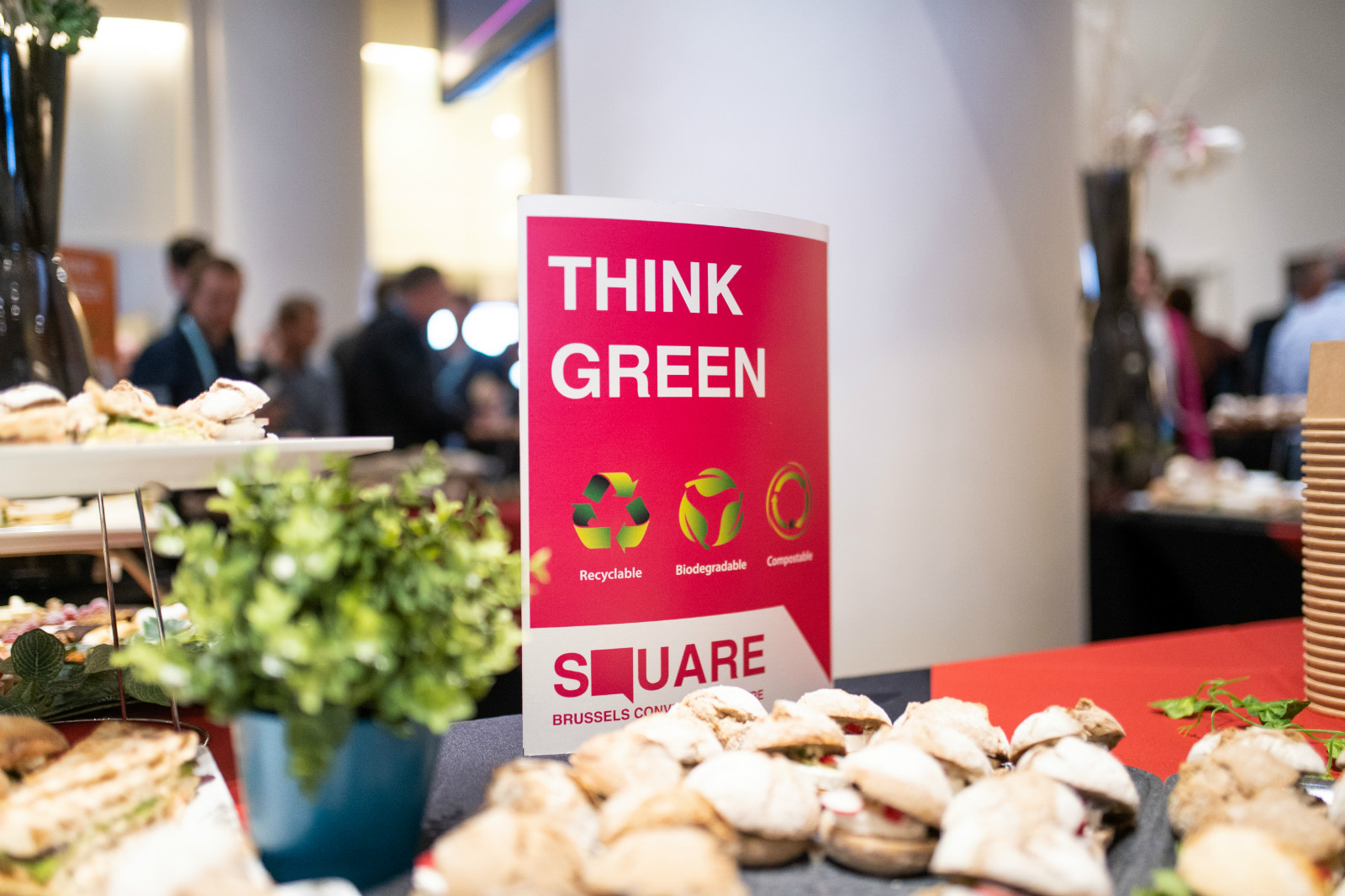 SQUARE Think Green actions